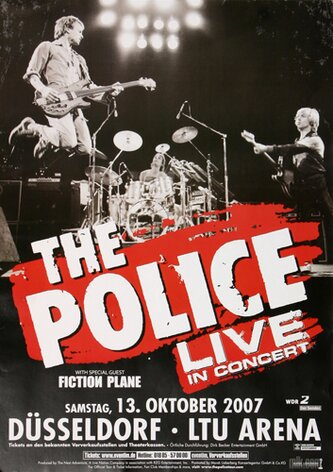 The Police - Certifiable , Düsseldorf 2007 - Konzertplakat