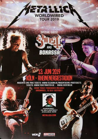 Metallica - Worldwired, Köln 2019 - Konzertplakat