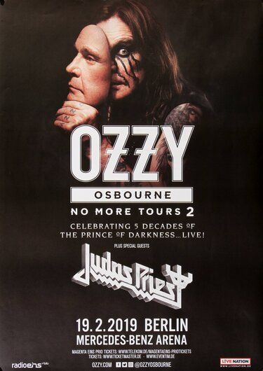 Ozzy Osbourne - No More Tours, Berlin 2019 - Konzertplakat