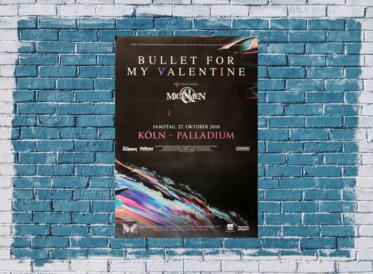 Bullet For My The Valentine - Gravity, Köln 2018 - Konzertplakat