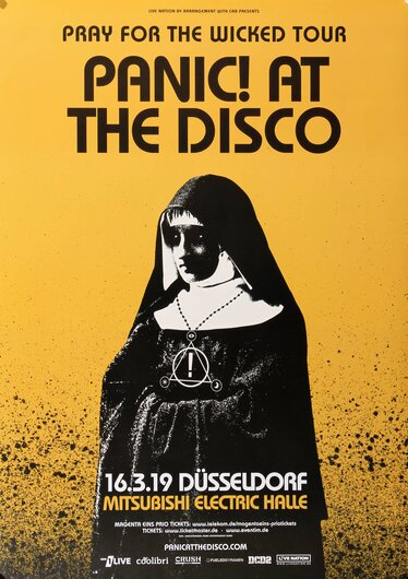 Panic At The Disco - The Wicked, Düsseldorf 2019 - Konzertplakat