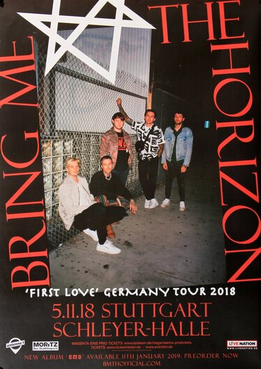 Bring Me The Horizon - First Love, Stuttgart 2018 - Konzertplakat