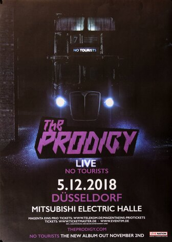 The Prodigy - No Tourists, Düsseldorf 2018 - Konzertplakat