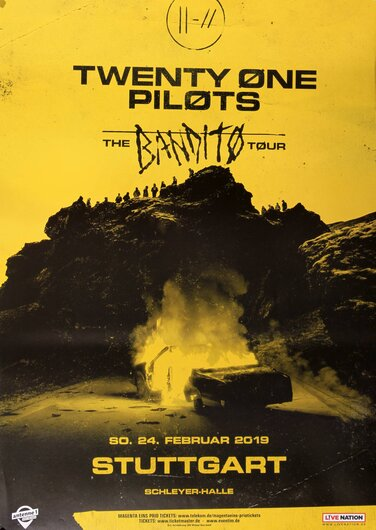 Twenty One Pilots - The Banditos, Stuttgart 2019 - Konzertplakat