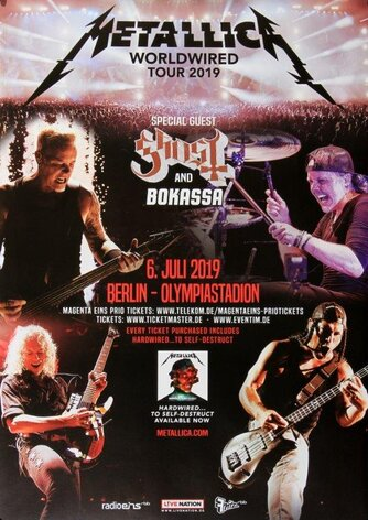 Metallica - Worldwired, Berlin 2019 - Konzertplakat