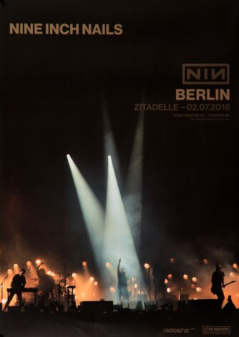 Nine Inch Nails - Bad Witch, Berlin 2018 - Konzertplakat