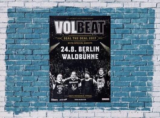 Volbeat - Seal The Deal, Berlin 2017, 24,90 €