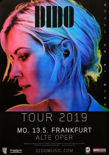 Dido - Still On My Mind, Frankfurt 2019 - Konzertplakat