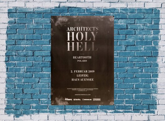 Architects - Holy Hell, Leipzig 2019 - Konzertplakat