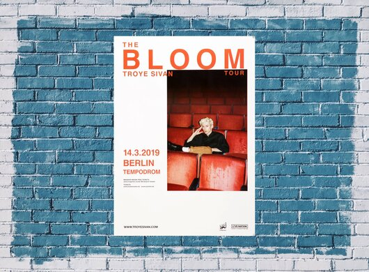 Troye Sivan - The Bloom Tour, Berlin 2019 - Konzertplakat