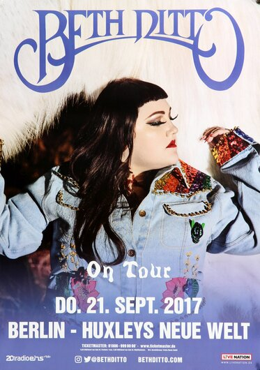 Beth Ditto - Fake Sugar, Berlin 2017 - Konzertplakat