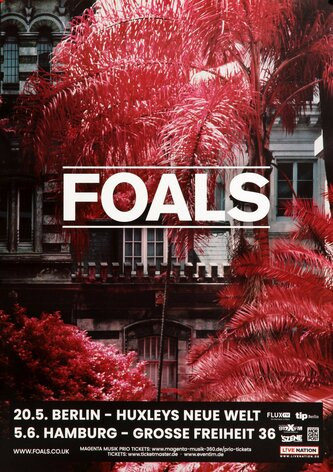 Foals - Everything Not Saved, Tour 2019