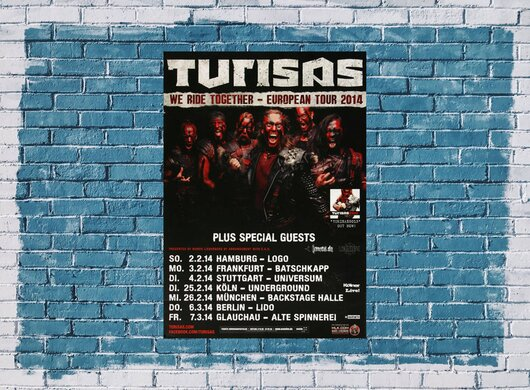 Turisas - We Ride Together, Tour 2014 - Konzertplakat