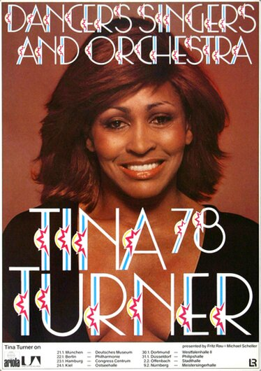 Ike & Tina Turner - Rough, Tour 1978 - Konzertplakat