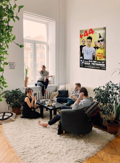 +44 - Baby Come On , Berlin 2007 - Konzertplakat