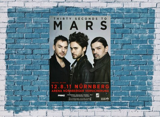 30 Seconds to Mars - In To The Wild , Nürnberg 2011 - Konzertplakat