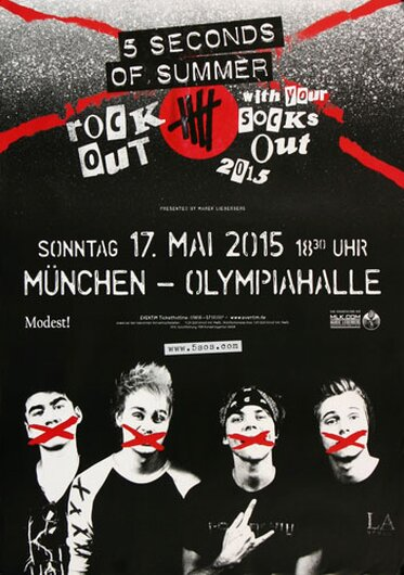 5 Secounds of Summer - Rock Out , München 2015