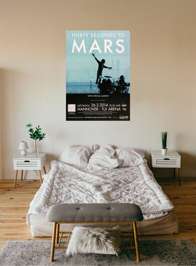 30 Seconds to Mars - In The Air , Hannover 2014 - Konzertplakat