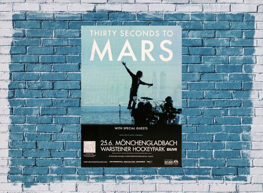 30 Seconds to Mars - In The Air , Mönchengladbach 2014 - Konzertplakat