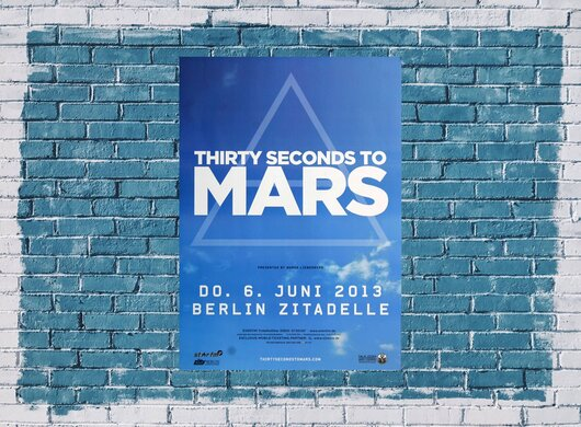 30 Seconds to Mars - Love Lust, Berlin 2013 - Konzertplakat