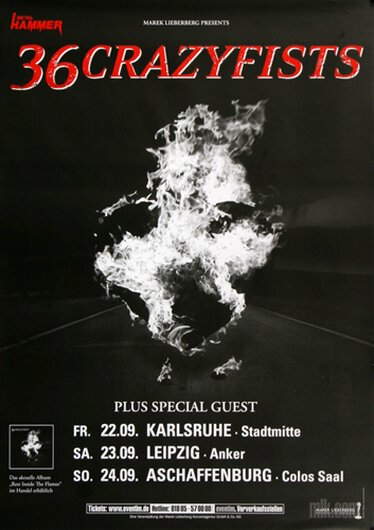 36 Crazyfists - Rest Inside The Flames, Tour 2006 - Konzertplakat