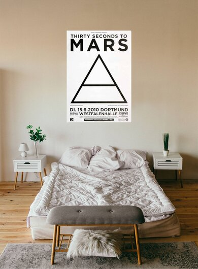 30 Seconds to Mars - The Kill, Dortmund 2010 - Konzertplakat