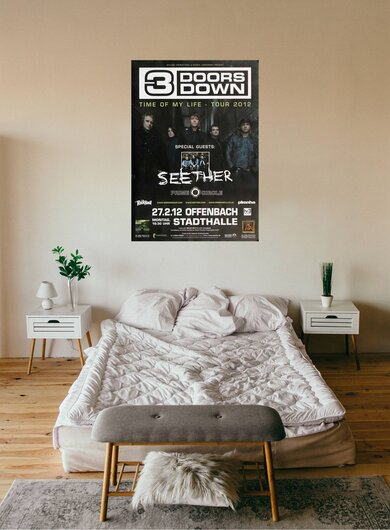 3 Doors Down - Time Of My Live, Frankfurt 2012 - Konzertplakat