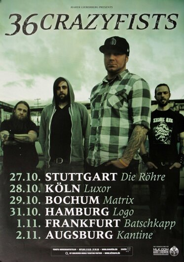 36 Crazyfists - Collisions, Tour 2011 - Konzertplakat