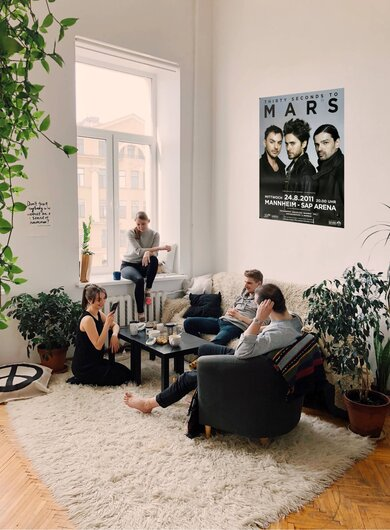 30 Seconds to Mars - In To The Wild , Mannheim 2011 - Konzertplakat