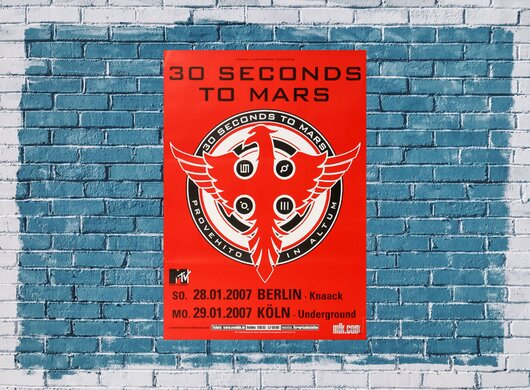 30 Seconds to Mars - Provehito In Altum, Berlin & Köln 2007 - Konzertplakat