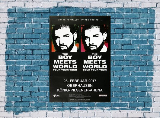 The Boys Meets World - Tour Tour , Oberhausen 2017 - Konzertplakat