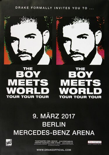 The Boys Meets World - Tour Tour , Berlin 2017 - Konzertplakat