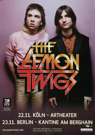 The Lemon Twigs - Do Hollywood, Köln & Berlin 2016 - Konzertplakat