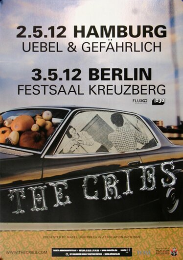 The Cribs - Ignore The Ignorant, Hamburg & Berlin 2012 - Konzertplakat