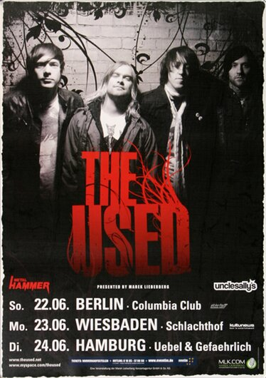 The Used - Artwork, Tour 2008 - Konzertplakat
