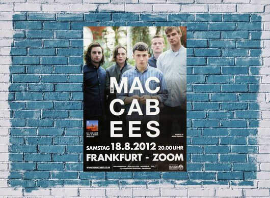 The Macabees - Given To The Wild, Frankfurt 2012 - Konzertplakat