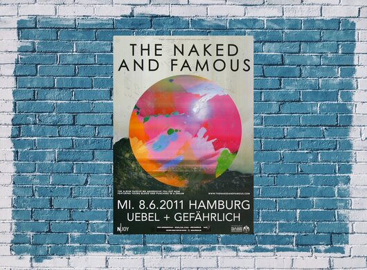 The Naked And The Famous - Passive Me , Hamburg 2011 - Konzertplakat