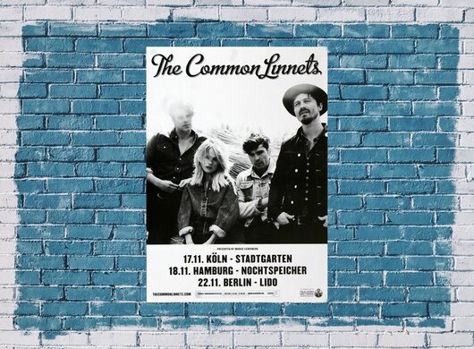 The Common Linnets - Hearts On Fire, Tour 2015 - Konzertplakat