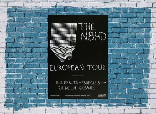 The Neighbourhood - The Floor, Berlin & Köln 2015 - Konzertplakat