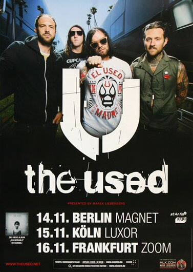 The Used - Artwork, Tour 2012 - Konzertplakat