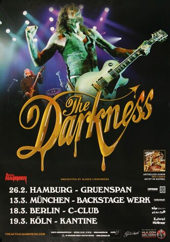 The Darkness - Last Of Our Kind, Tour 2013 - Konzertplakat