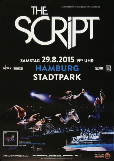 The Script - Superheros , Hamburg 2015 - Konzertplakat