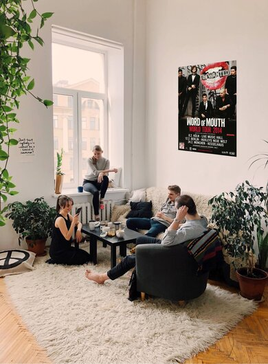 The Wanted - Word Of Mouth, Tour 2014 - Konzertplakat