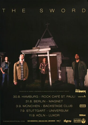 The Sword - High Country, Tour 2015 - Konzertplakat