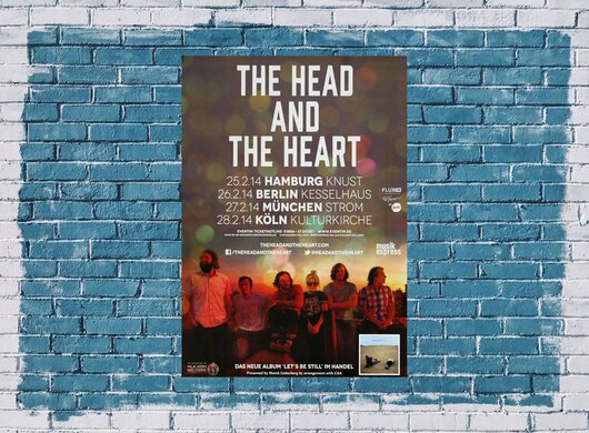 The Head And The Heart - Lets Be Still, Tour 2014 - Konzertplakat