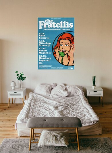 The Fratellis - We Need Medicine, Tour 2013 - Konzertplakat