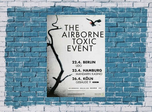 The Airborne Toxic Event - Such Hot Blood, Tour 2009 - Konzertplakat