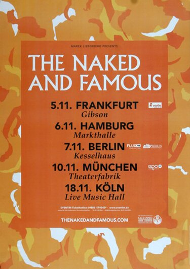The Naked And The Famous - Aggressive You, Tour 2013 - Konzertplakat