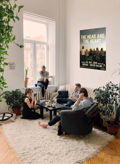 The Head And The Heart - Ghosts, Berlin 2013 - Konzertplakat