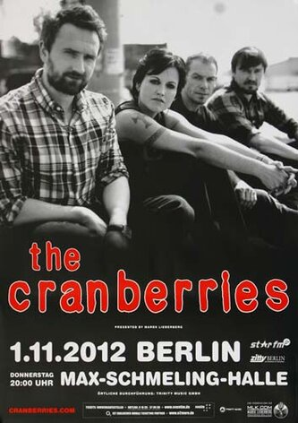 The Cranberries - Tomorrow, Berlin 2012 - Konzertplakat